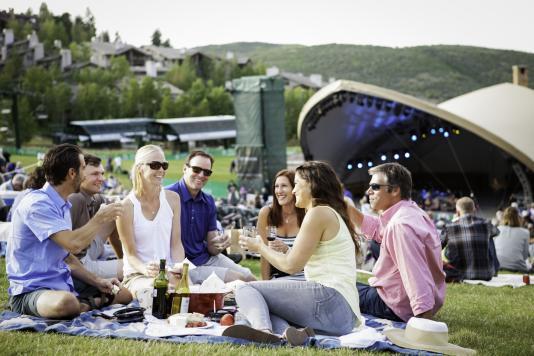 Group Enjoying an Outdoor Summer Concert at Deer Valley Resort