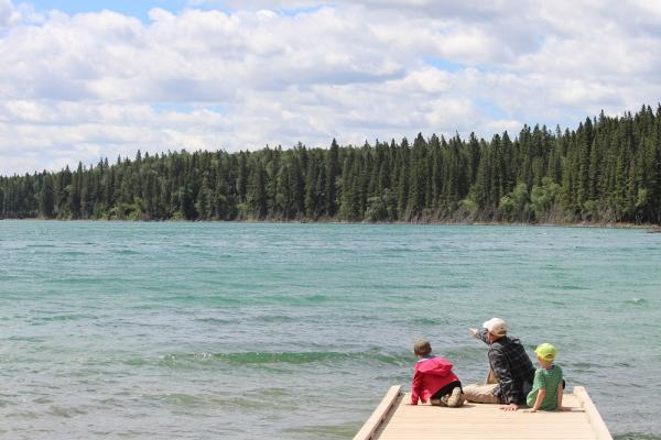 East Blue Lake Dock at Duck Mountain Provincial Park