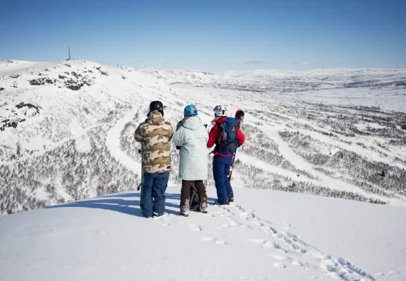 View to Hovden Alpinsenter