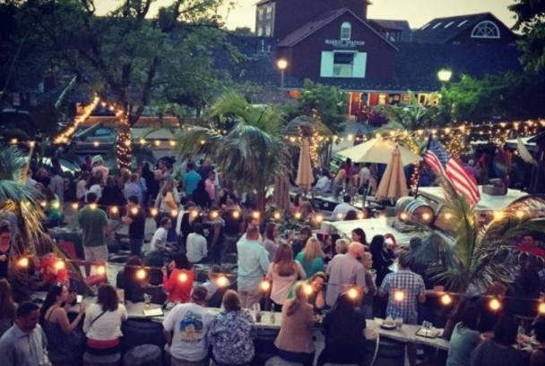 Outdoor festival at MacDowell Brew Kitchen