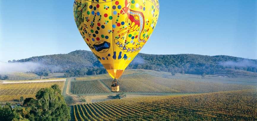 Hot Air Ballooning over Yarra Valley Wine Region