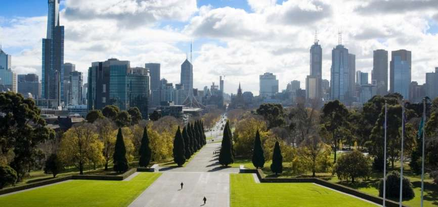 City Skyline from Shrine of Remembrance