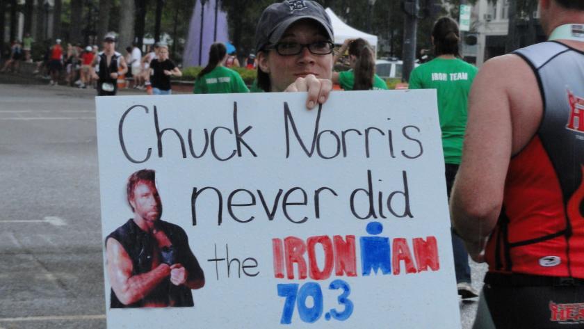 Ironman 70.3 Sign