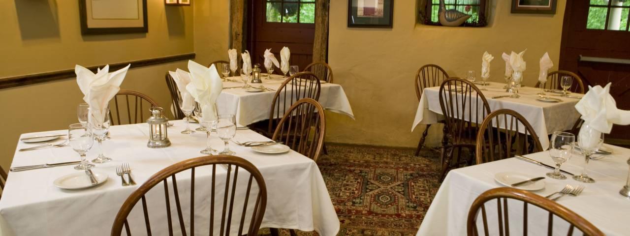 Joseph Ambler Inn Dining Room