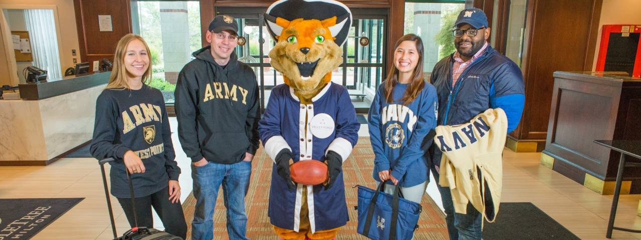 Army Navy Fans at Hotel