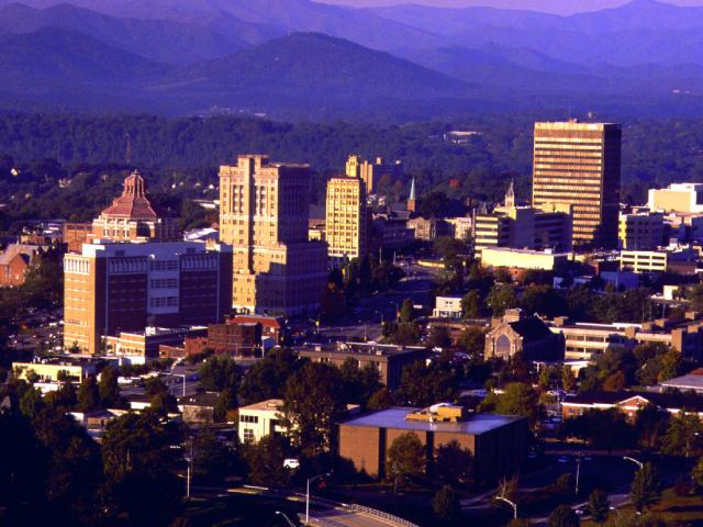 Skyline of Asheville