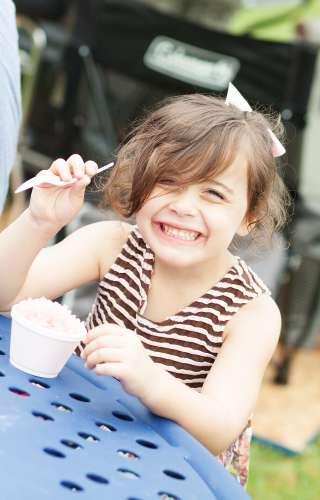 Child Eating Snowcone