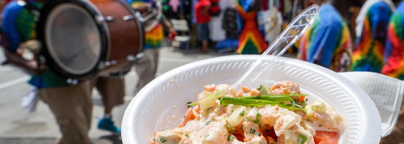 Purloo - Crawfish & Shrimp Stuffed Creole Tomato - French Market Creole Tomato Festival 2015