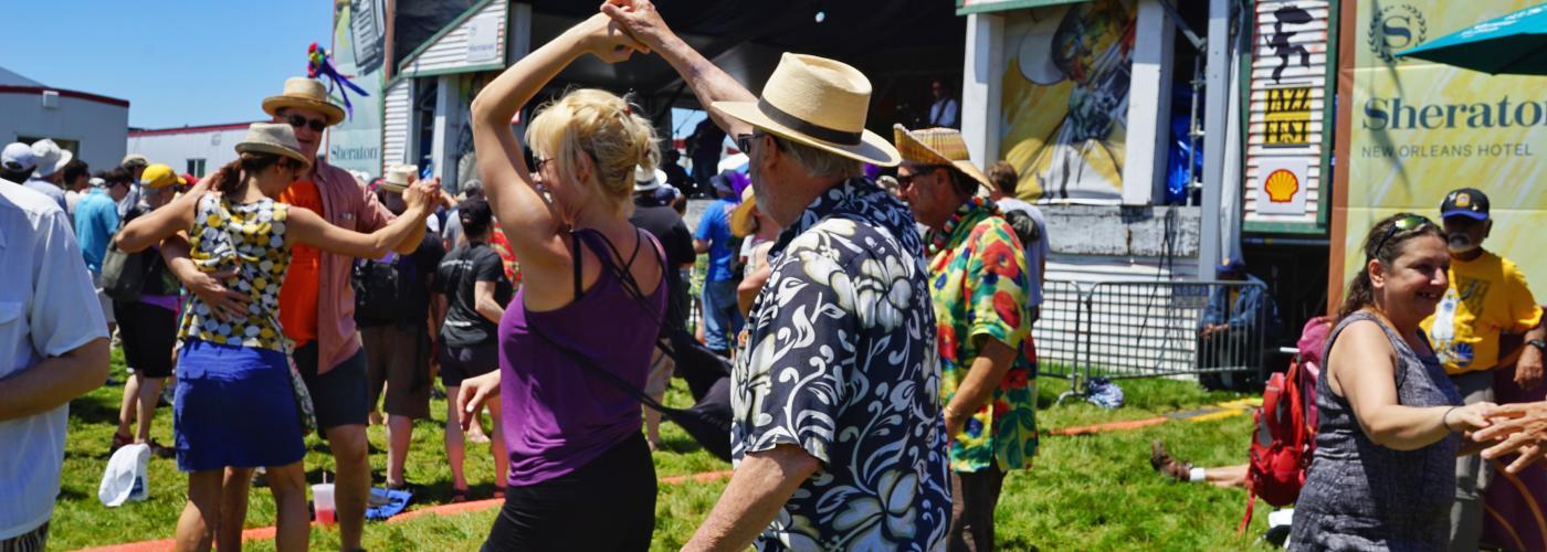 Fais Do Do dancers - Jazz Fest 2016