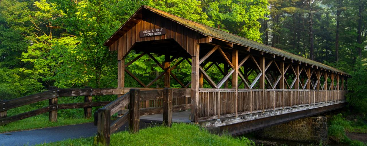 New York Covered Bridges Hyde Hall Battenkill River