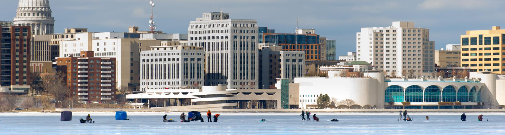 Madison Skyline in Winter