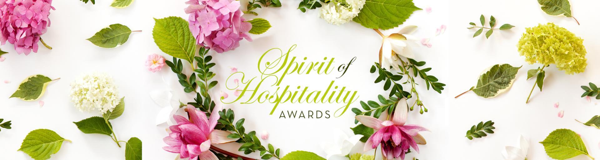 2018 Spirit of Hospitality Awards Banner