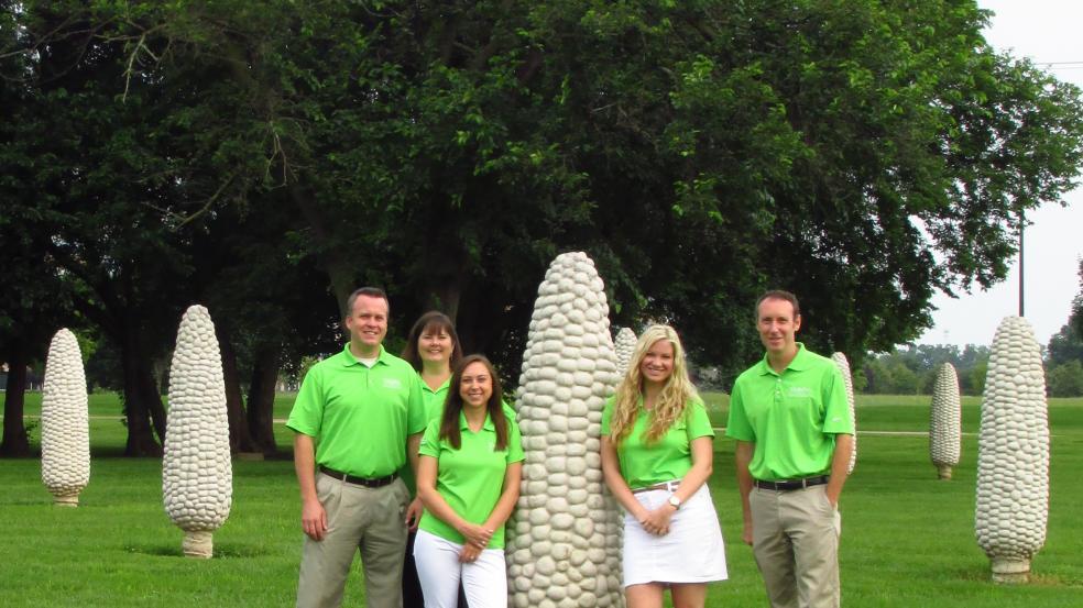 Dublin CVB Staff in Field of Corn