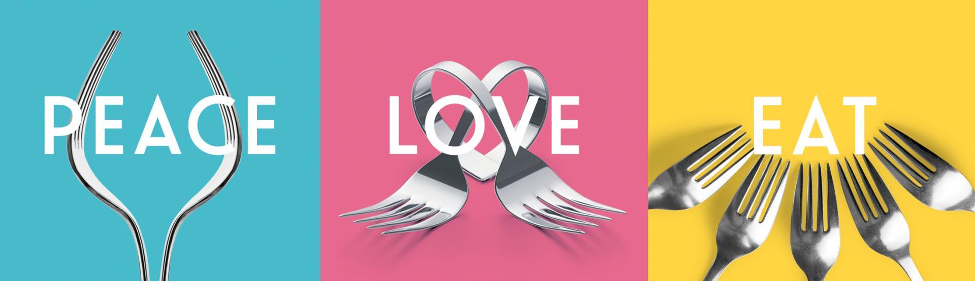 dineGPS Peace Love Eat