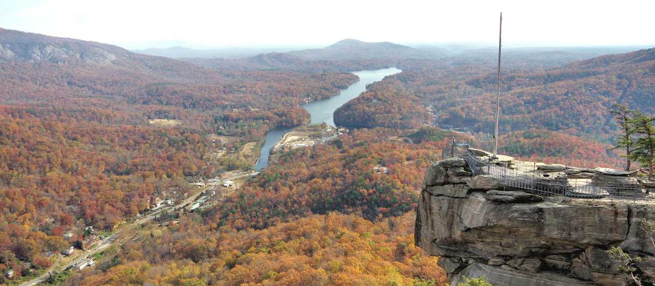 Fall Color at Chimney Rock State Park}