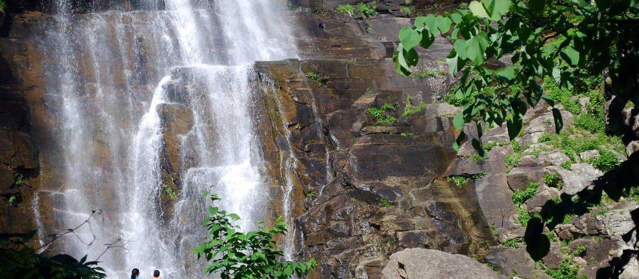 Hickory Nut Falls at Chimney Rock State Park}