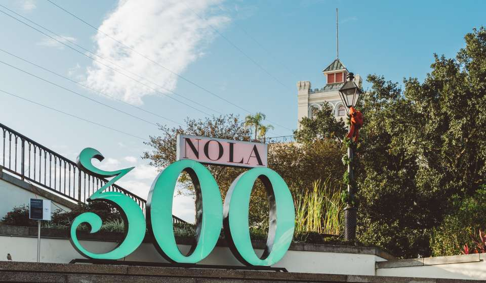 NOLA Tricentennial Sign, Washington Artillery Park