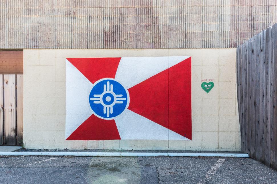 Wichita Flag Mural