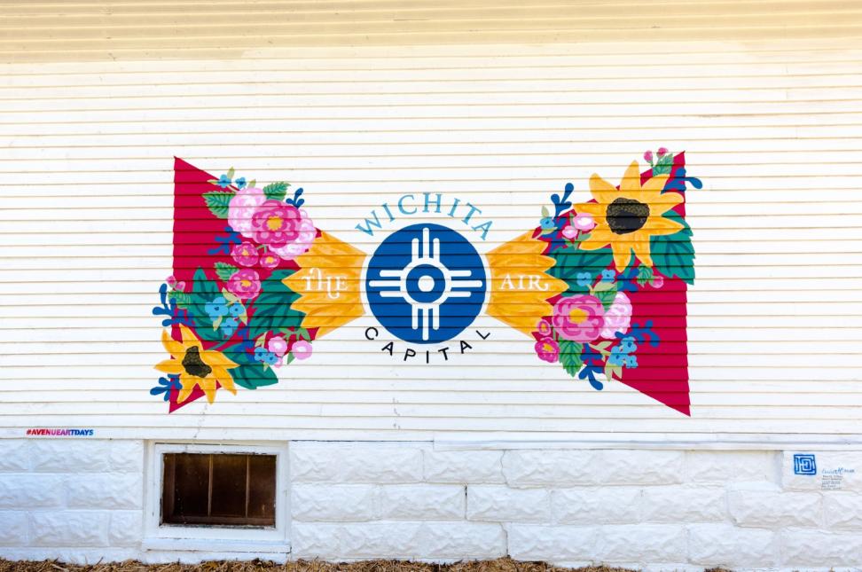 Flower Flag Mural