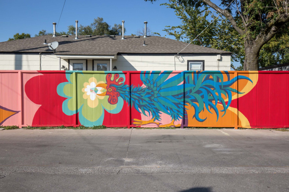 Rooster Mural