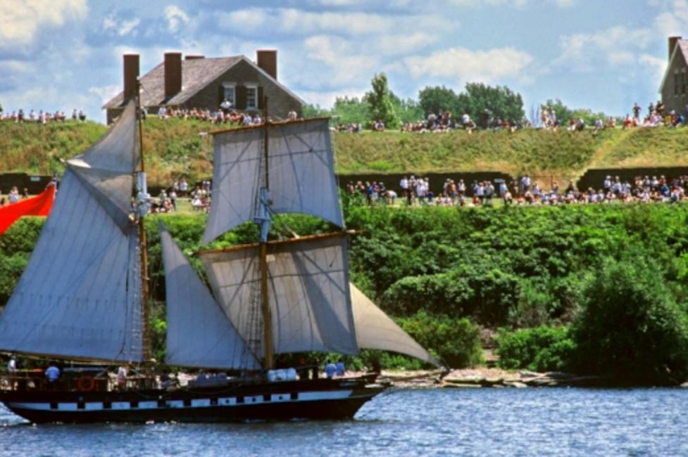 Fort Ontario during Harborfest in Oswego