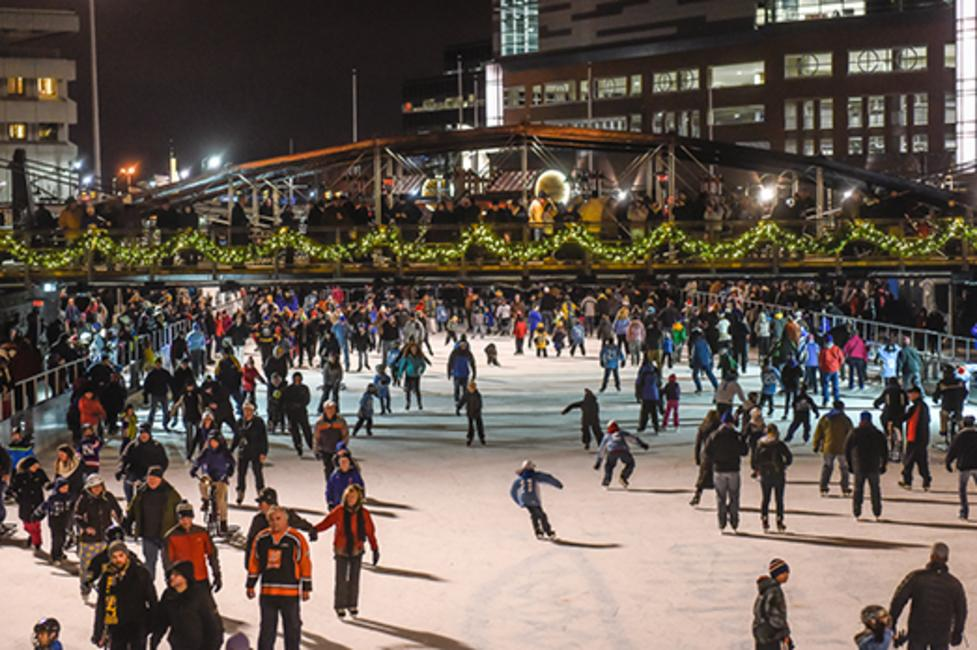 Canalside Ice Skating