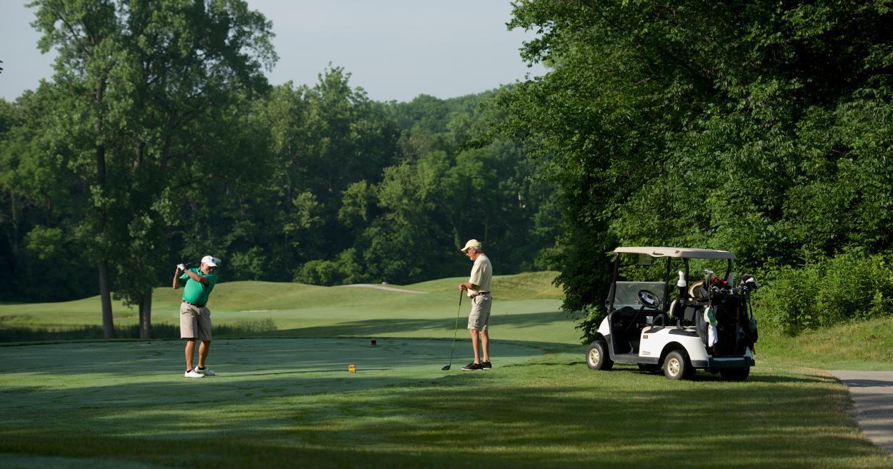 Golfers at Twin Bridge Golf Course