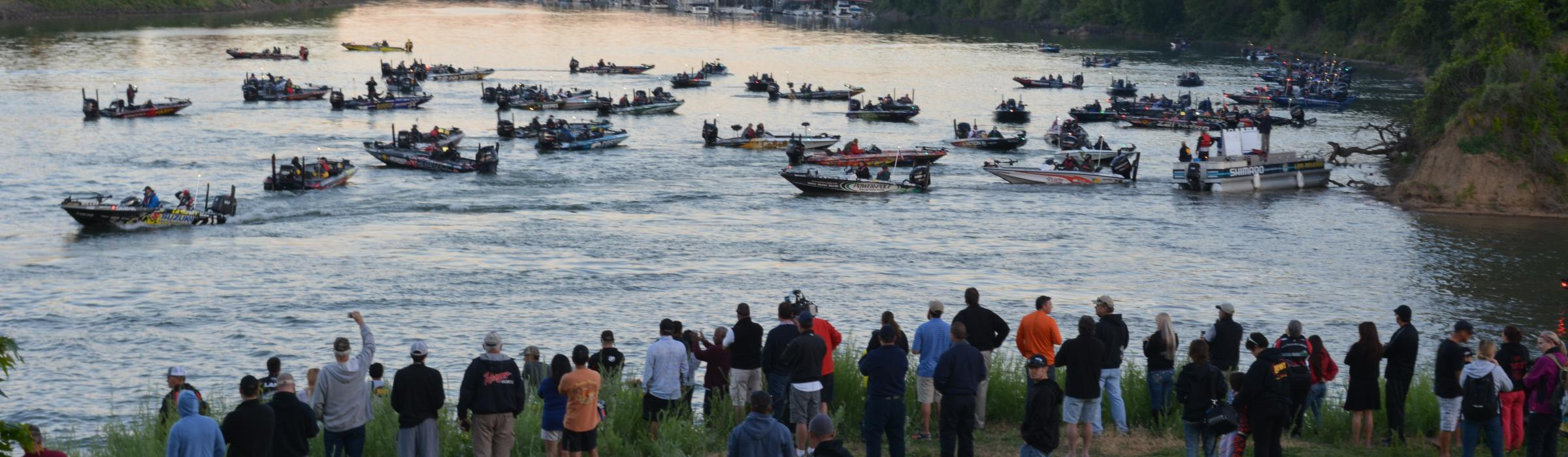 The Bassmaster Elite Series came to Sacramento in 2015 and started by Discovery Park. Taken 2015.