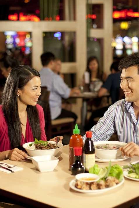 Dining at Bamboo