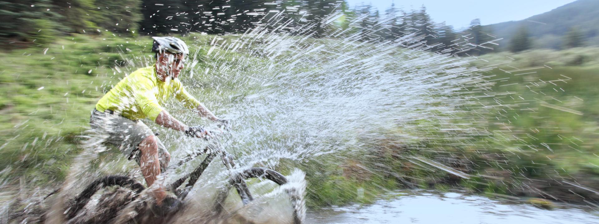 Outdoor Adventures Biking Splash