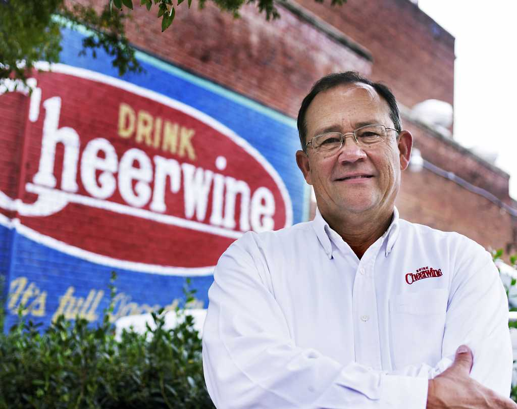 Cheerwine sign painted on building