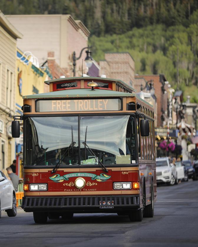 Free Trolley in Park City, Utah