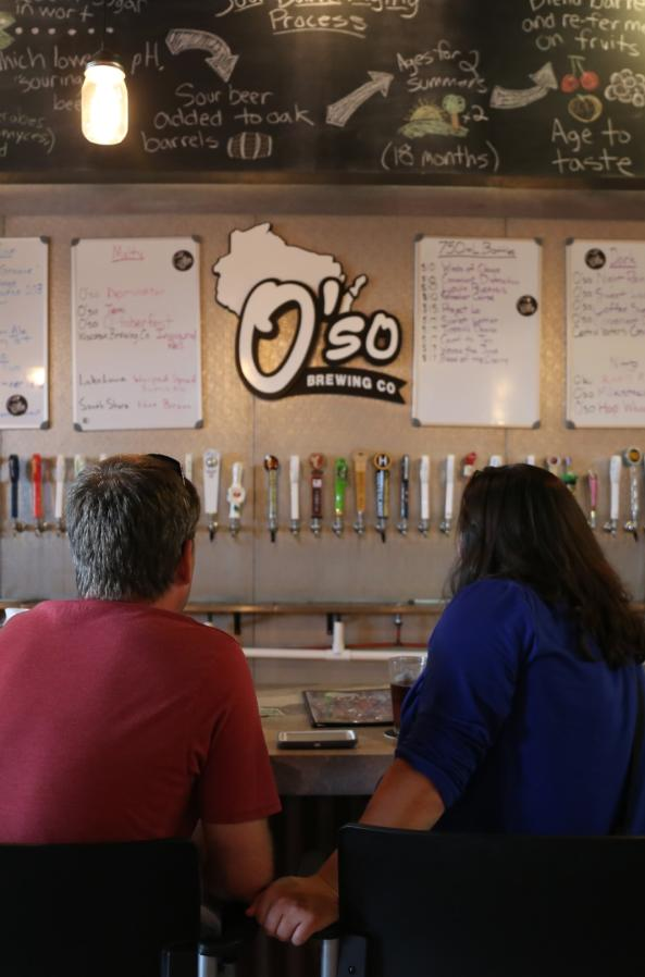 Taste one of Wisconsin beers on tap at the O'so Brewing Company Tap House, before or after a tour.