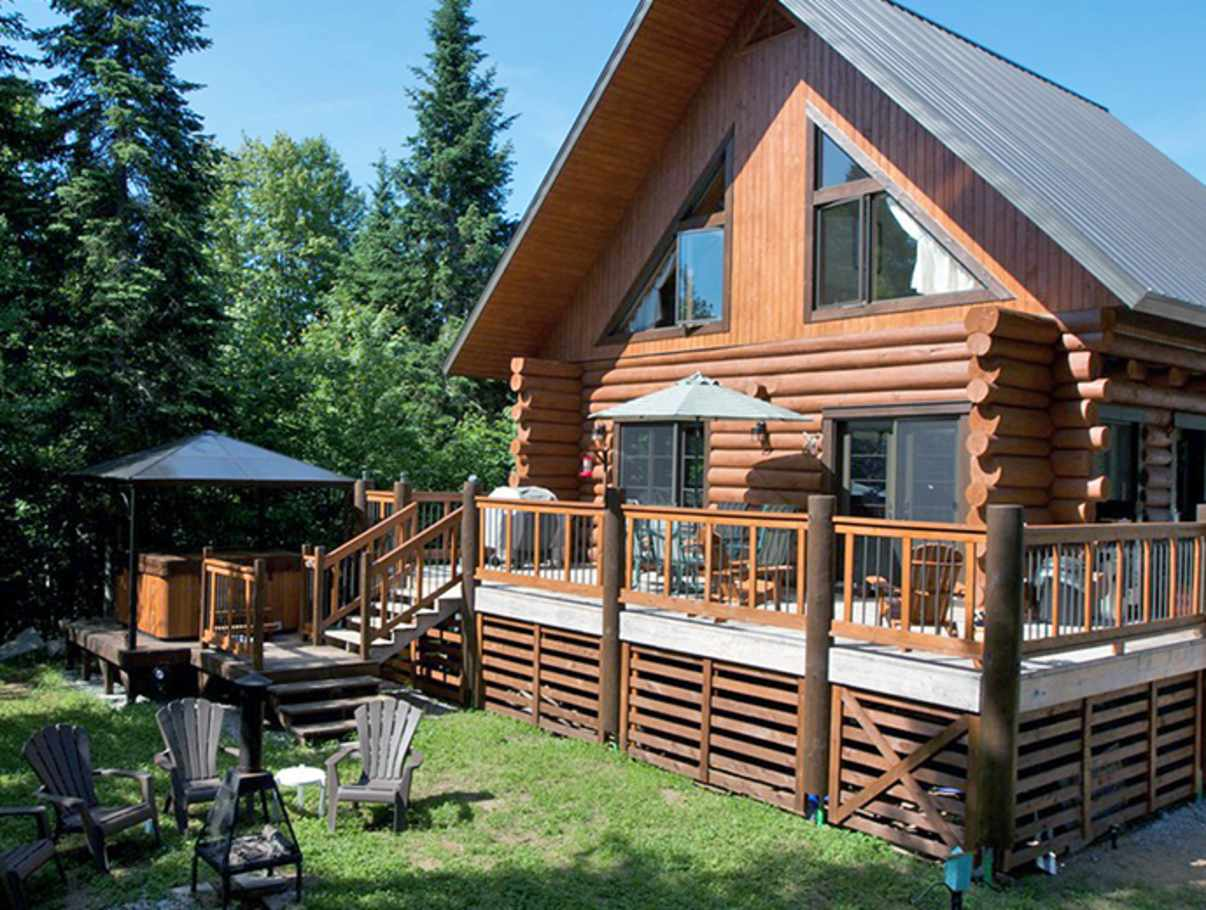 au chalet en bois rond cottages quebec city and area - Porte De Chalet En Bois
