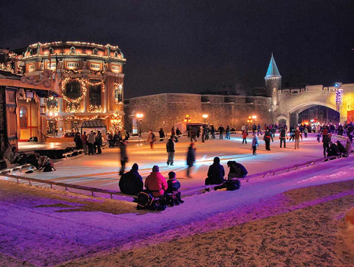 Patinoire De La Place D Youville Skating Quebec City