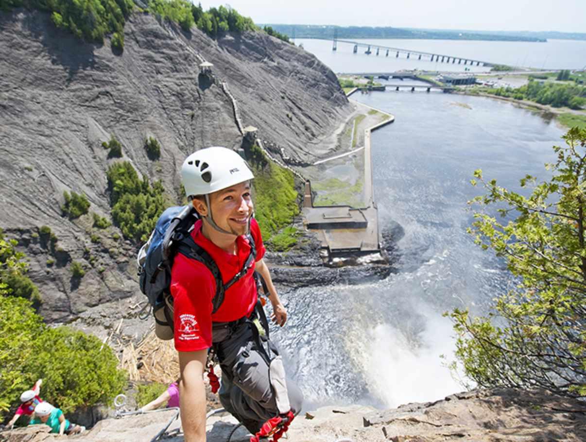 Klettersteig Quebec : Parc de la chute montmorency via ferrata quebec city and area