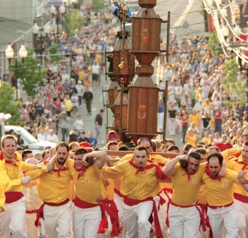 "Jessup's Saint Ubaldo Day ""Race of the Saints"" in Lackawanna County, PA."