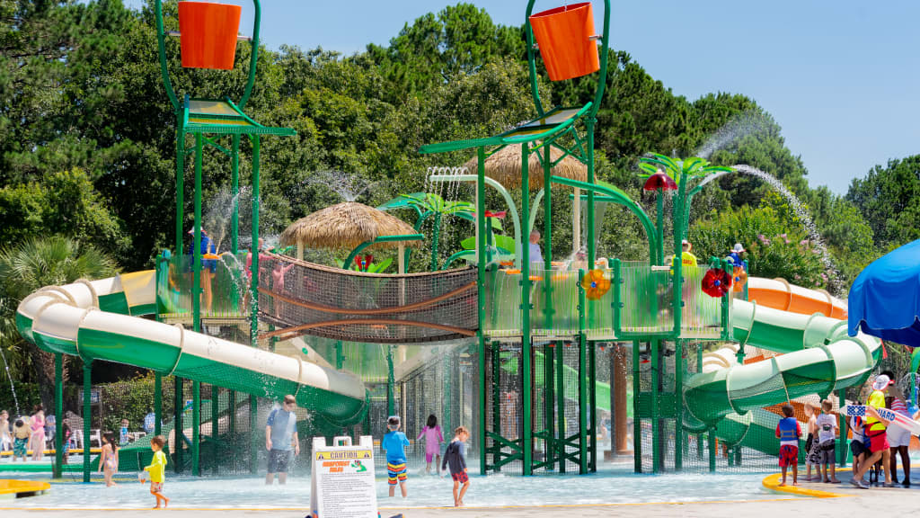 Image of Splash Zone Waterpark at James Island County Park