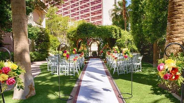 Wedding at Hidden Oasis at the Flamingo