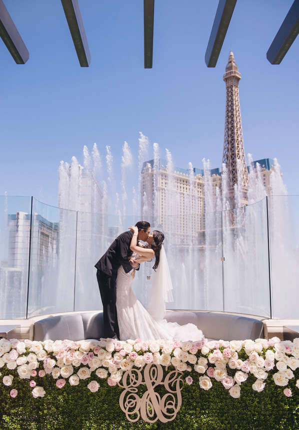 Wedding in Front of the Bellagio Fountains