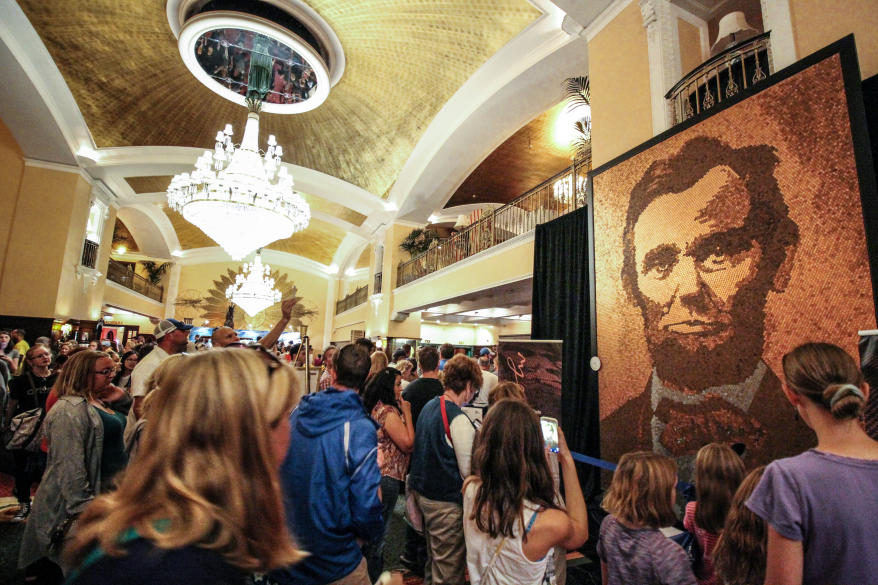A. Lincoln by Richard Schlatter during ArtPrize 9