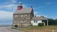 1838 Selkirk Lighthouse at the Salmon River Lighthouse & Marina