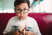 Boy and Milkshake