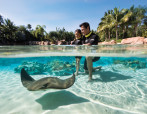 Dad and Daughter With Sting Ray