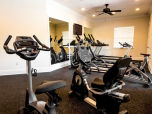 Exercise room in the clubhouse