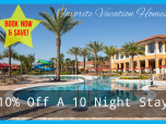 10% off 10 night stay