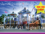 15% off 21 night stay