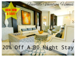 20% off 30 night stay