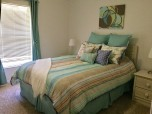Color co-ordinated bedrooms