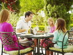 Family Outdoor Dining at Trevis